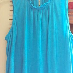 Tops - Dark teal sleeveless pullover cotton top